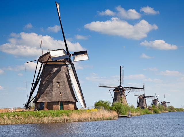Мельницы в Kinderdijk