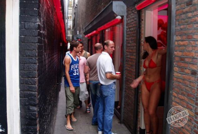 Секс на улица красных фонарей в голландии