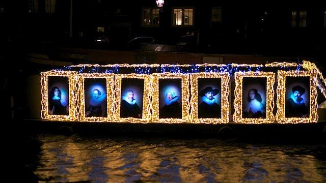 Парад огней в Амстердаме