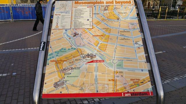 Карта Амстердама для туристов