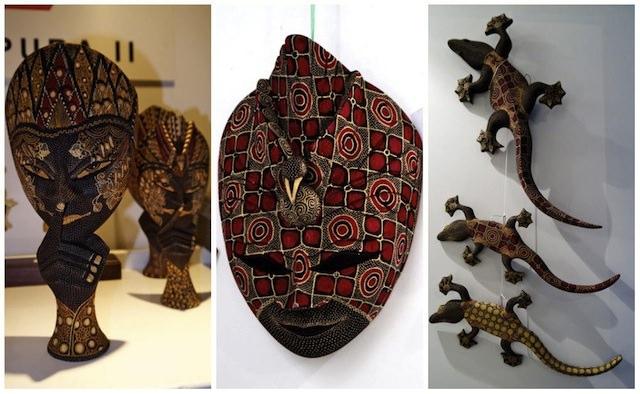 маски из Индонезии