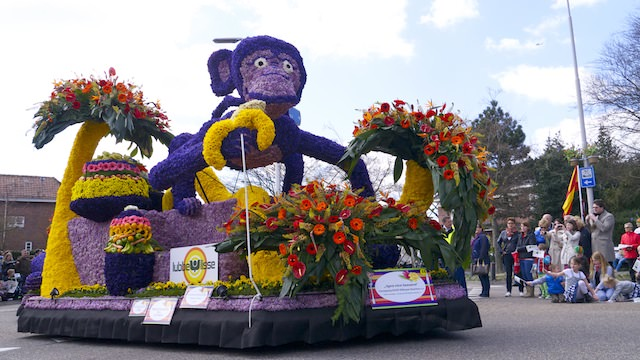 обезьяна из цветов