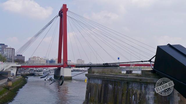 Красный мост, Роттердам, Rotterdam