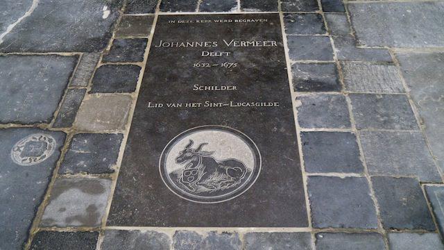 новый памятный камень Яну Вермееру