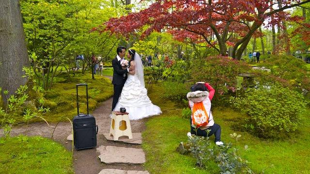 свадебная фотосессия в Японском саду