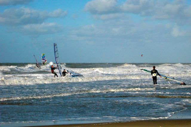 серфинг в Северном море