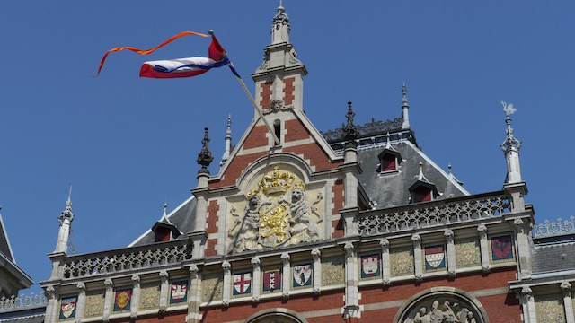 флаг Нидерландов с вымпелом