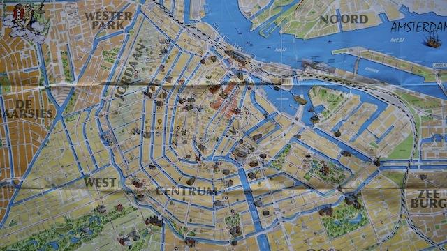 центр Амстердама на карте