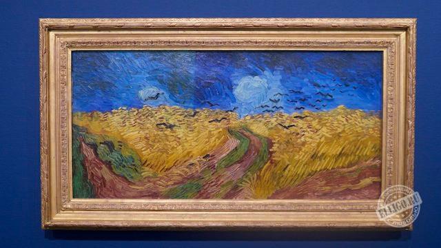"""Одна из последних работ """"Пшеничное поле с воронами"""""""