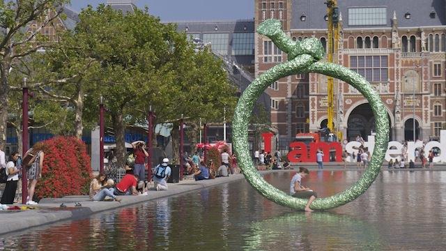 Слоган I amsterdam, Музейная площадь