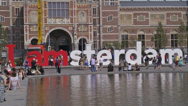 Надпись I amsterdam