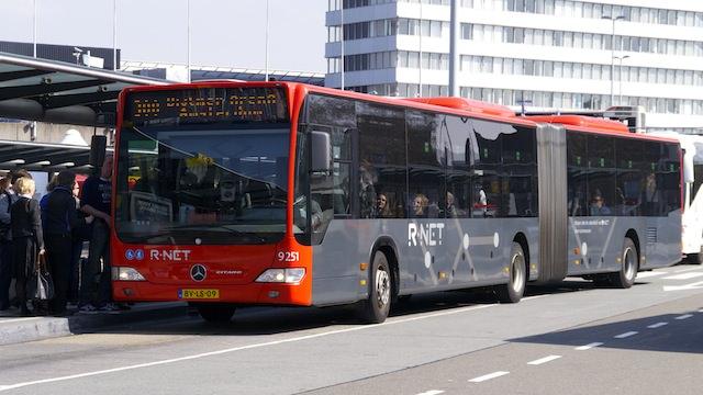 Автобус из аэропорта в Амстердам