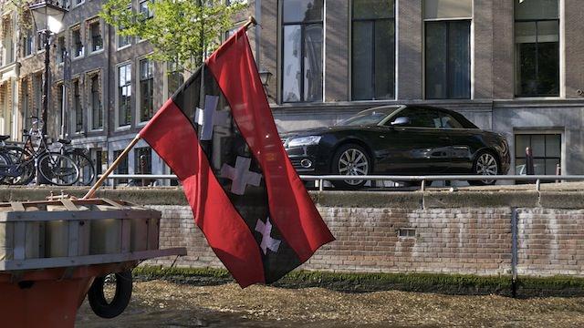 Флаг с символом Амстердама