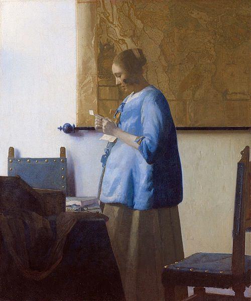 «Дама в голубом, читающая письмо»