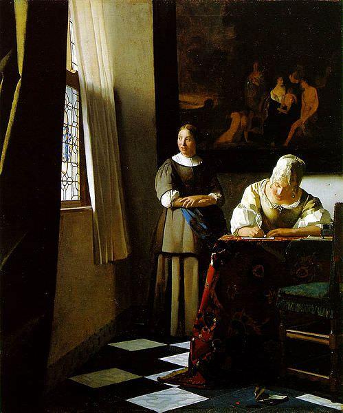 """""""Дама, пишущая письмо, со своей служанкой"""""""