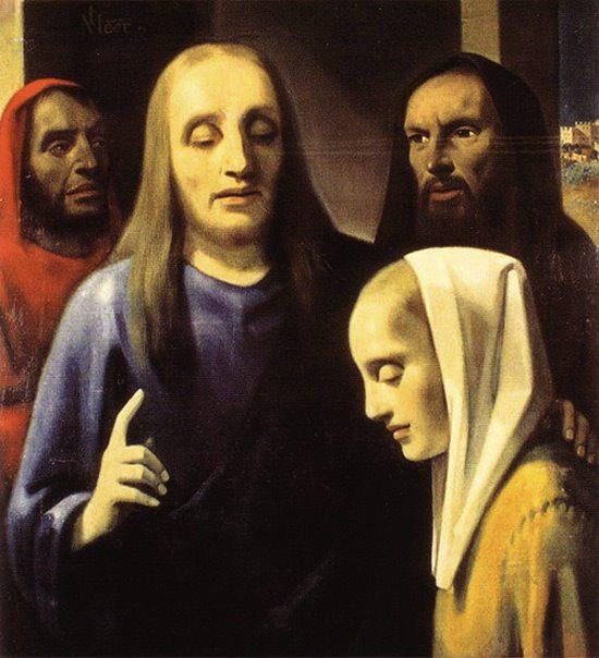 "Картина ""Христос и грешница"", фотография с сайта www.omskman.ru"