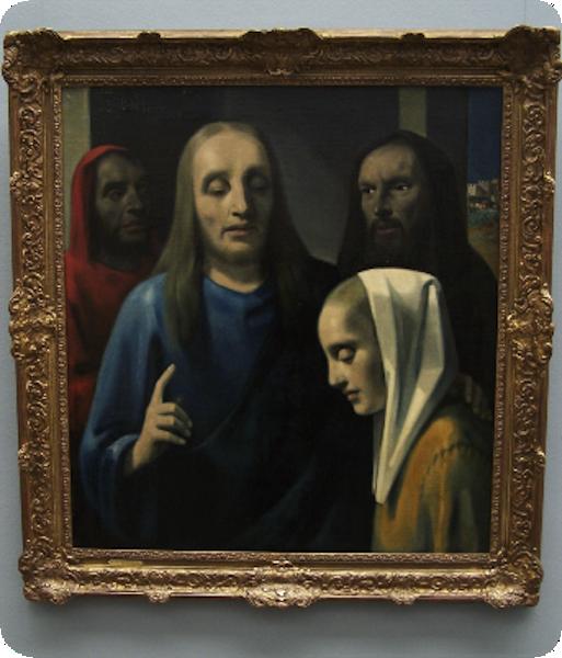 """Картина """"Христос и грешница"""", фотография с сайта hanvanmeegeren.nl"""