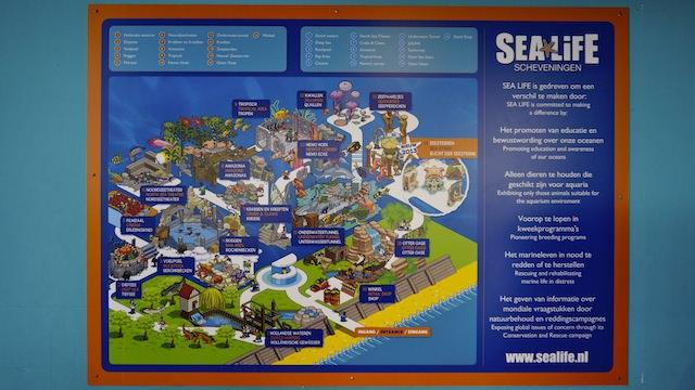 План морского аквариума SEA LIFE