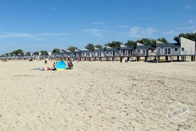 домики на пляже