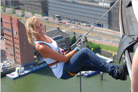 Спуск с Евромачты, фото с сайта http://www.abseilen.nl