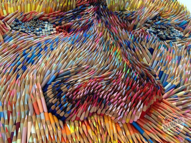 Портрет Ван Гога из карандашей